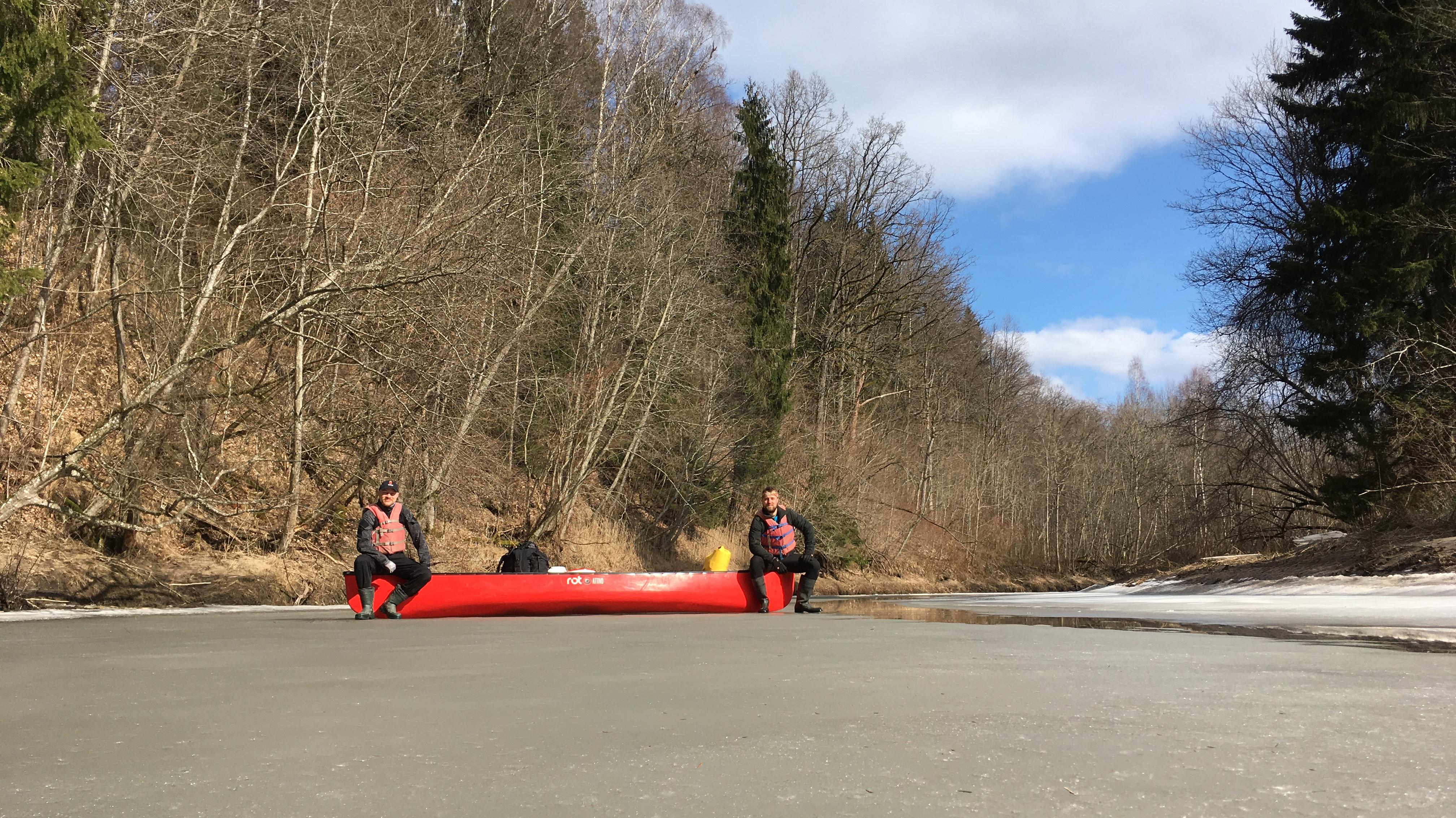 Ice age Minijas upē.
